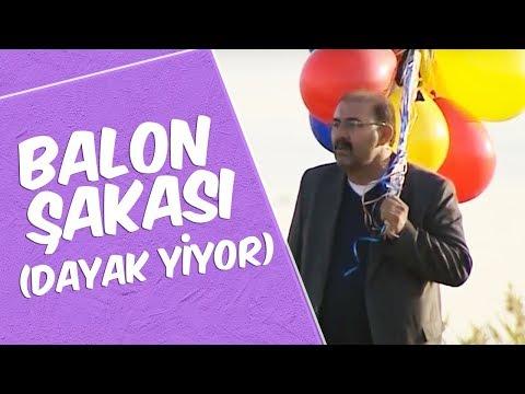 Mustafa Karadeniz  - Balon Şakası (Dayak Yiyor)