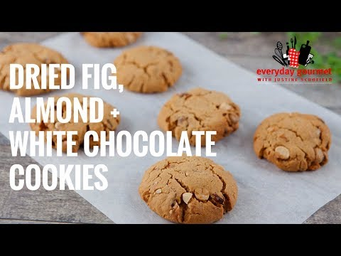 Dried Fig Almond and White Chocolate Biscuits | Everyday Gourmet S7 E11