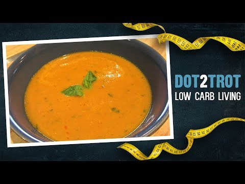 Low carb diet - Roasted Golden Tomato Soup (Low Carb)