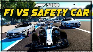 WHAT IF AN F1 CAR RACED A GRID OF SAFETY CARS?! - F1 2018 Game Experiment