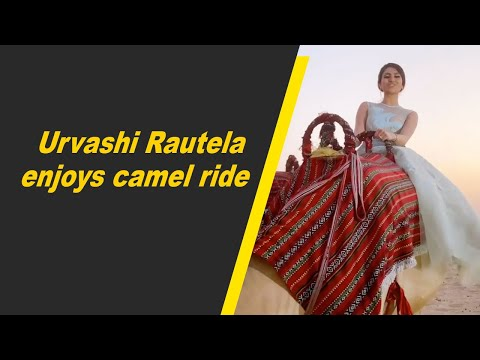 Urvashi Rautela enjoys camel ride