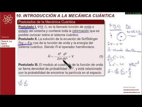 Modelos de uñas - Teoría cuántica  Postulados de la mecánica cuántica
