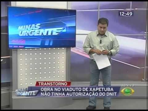 xapetuba - Obra do trevo xapetuba foi retomada sem autorizaçao do DNIT.com imagens BAND TRIANGULO, No comando Amarildo Maciel...