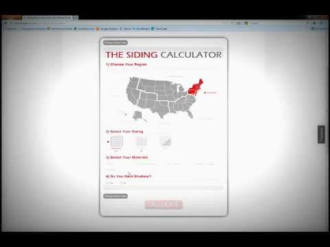 The Online Siding Cost Calculator