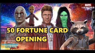 Stream: https://www.twitch.tv/degentpTwitter: https://twitter.com/DegenTPMarvel Heroes Guardians of the Galaxy Volume 2 inspired fortune cards in Marvel Heroes. GotG2 costumes and cards are active in Marvel Heroes this week (Costumes permanent). This is on the PC version of MH which can be found on steam or Marvelheroes.com. Epic items:Drax (Movie Variant) GotG Vol. 2Gamora (Movie Variant) GotG Vol. 2Groot Pet (Baby Groot)Ultimate UpgradeCombo Boost x3Costumes I used in this:Enhanced Rocket Raccoon Guardians of the Galaxy Vol. 2 CostumeStar Lord Guardians of the Galaxy Vol. 2 CostumeFirst Team-Up before card openingHoward the Duck