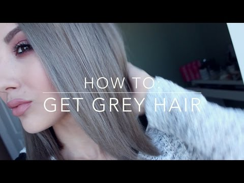 HOW TO GET GREY HAIR! Inexpensive DIY