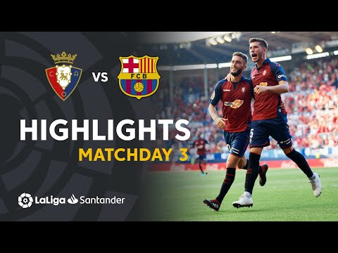 Highlights CA Osasuna vs FC Barcelona 2-2