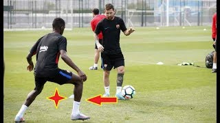 Download Video MESSI Destroying DEMBELE in training MP3 3GP MP4