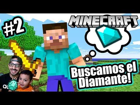 Buscamos Diamante en Minecraft   Encontramos un Tesoro   Juegos Karim Juega