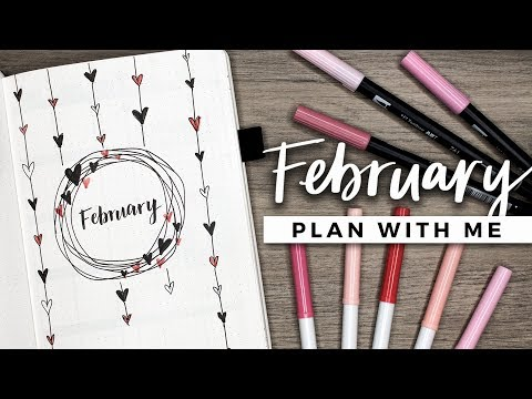 PLAN WITH ME | February 2018 Bullet Journal Setup (видео)