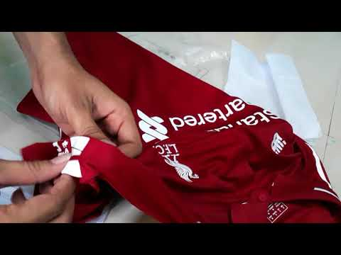 Unboxing NEW BALANCE LIVERPOOL HOME JERSEY 18/19