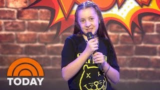 Comic Saffron Herndon, 10, Performs, Runs Out of 'Clean Jokes' | TODAY