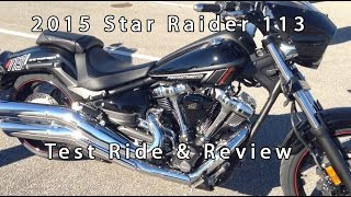 8. 2015 Yamaha Star Raider Review Test Ride AIMExpo