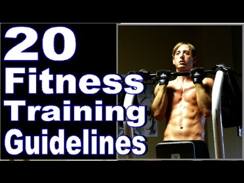 20 Fitness Training Guidelines