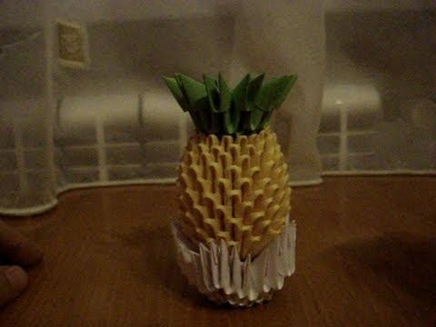 3D Origami Pineapple Tutorial