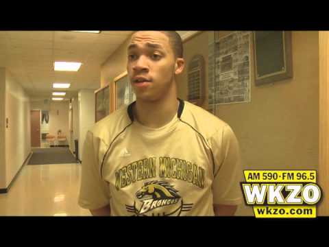 WMU Junior Guard David Brown talks with Carolyn Binder about sparking the Broncos off the bench in 66-58 win over Northern Illinois