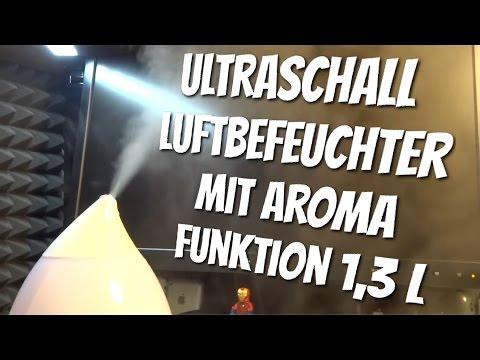 1,3 Liter Ultraschall Luftbefeuchter mit Aroma Funktion & LED im Test Review
