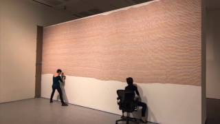 """Time Lapse of Sol LeWitt's """"Wall Drawing #797"""" 