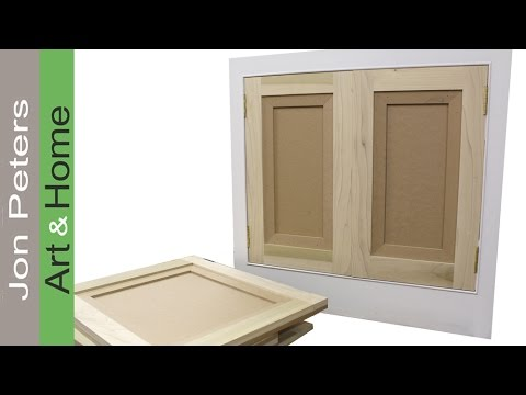 making doors - http://www.jonpeters.com/ and hang flat panel cabinet doors by Jon Peters.