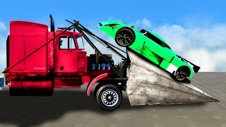 MILE HIGH MEGA TRUCKS DERBY! (GTA 5 Funny Moments)