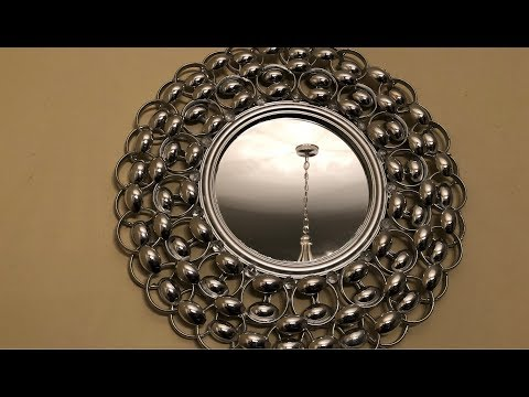 Dollar Tree DIY - 💕 Silver Decorative Wall Mirror 💕
