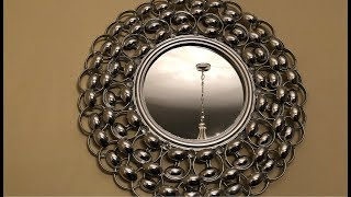 Dollar Tree DIY || Silver Decorative Wall Mirror