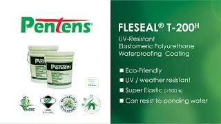 Pentens T-200H UV-resistant PU Elastomeric Waterproofing Coating