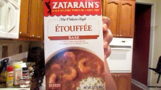 This quick meal may easily become your favorite dish to make. It smells great the second you open the box of the etouffee base! If you don't have crawfish available in your area just use shrimp instead. It is a great replacement choice. Also you can serve this over fried fish instead of rice; it tastes delicious!I am a little stuffy due to my allergies, so sorry bout that :)Please comment and let me know how this tasty dish turns out for you!