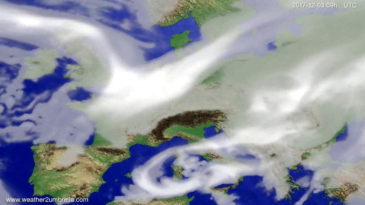 Cloud forecast Europe 2017-11-29