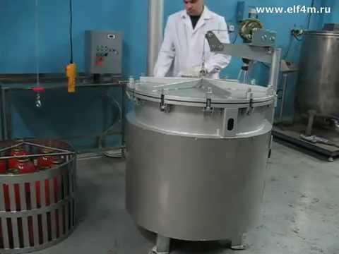Видео: Автоклав промышленный ИПКС-128-500-1 с рабочим объемом 270 литров.