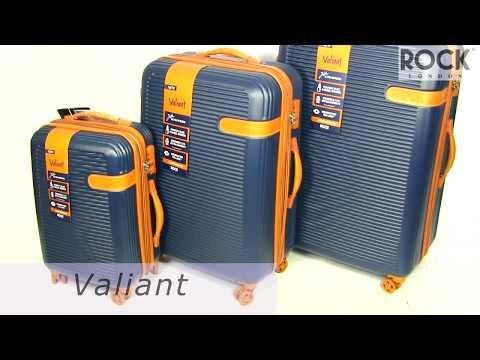 Відео огляд валізи Rock Valiant Coffee Brown Hardshell Expandable (S)