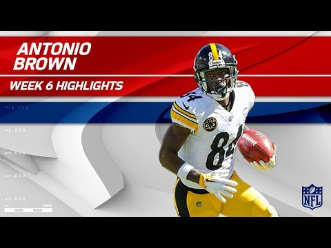 Video: Antonio Brown's 8 Catches for 155 Yards & 1 TD! | Steelers vs. Chiefs | Wk 6 Player Highlights