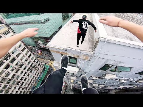 Rooftop POV Escape from Hong Kong security! ????_A valaha feltöltött legjobb extrémsport videók