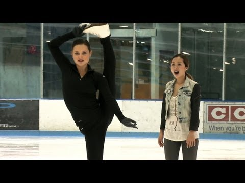 Figure Skating - Olympic figure skating silver medalist Sasha Cohen takes Michelle out on the ice rink and teaches her a few basic ice skating tips and moves in this exclusiv...
