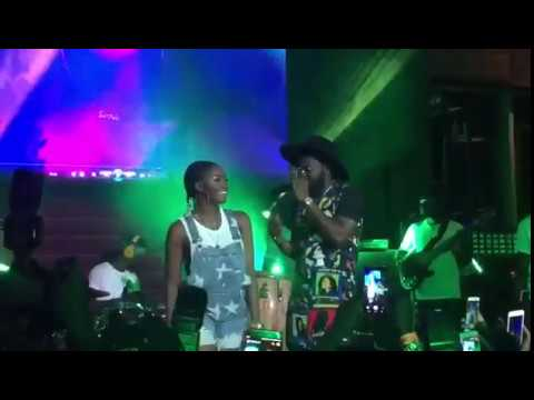Simi X Falz Performing Chemistry At Simi Live Concert