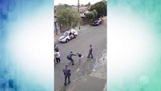Comando da PM apura conduta de policial que agrediu duas pessoas durante confusão