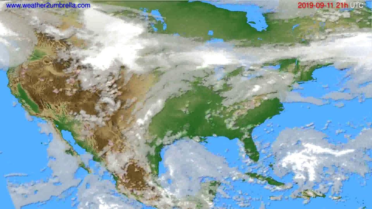 Cloud forecast USA & Canada // modelrun: 00h UTC 2019-09-10
