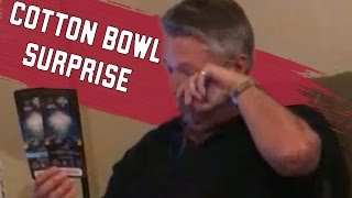 Video courtesy of Andrew Magee. Family surprises father and Crimson Tide fan with tickets to Cotton Bowl for Christmas.