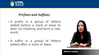 UTPL WORDS IN CONTEXT [(INGLÉS)(LISTENING AND SPEAKING I)]