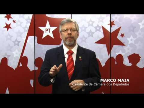 RS Faxinal do Soturno   Deputado Marco Maia apoia para prefeito Volnei Savegnago