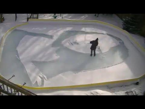 Η χιονισμένη Μόνα Λίζα από τα χέρια ενός Καναδού