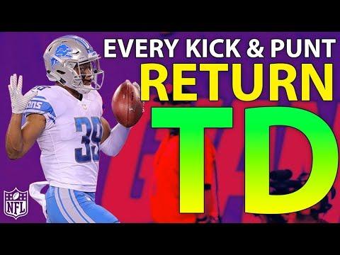 Ranking Every Kick  Punt Return TD of the 2017 Season  NFL Highlights