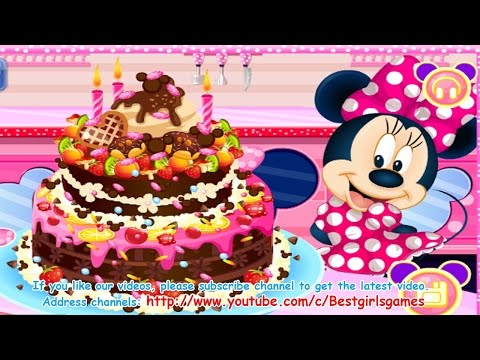 ♛ How To Make Chocolate Cake - Minnie Mouse Chocolate Cake - Cooking Games