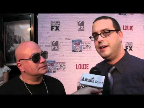 Comedian Robert Kelly & Joe DeRosa at the season 2 premiere of FX's 'Louie'