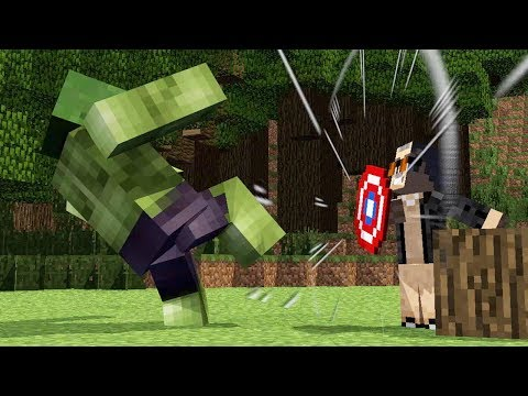 FNAF vs Mobs:: Marvel vs DC  (Hulk Spiderman Batman Superman)- Minecraft Animation