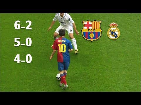 Download 3 مرات برشلونة يدمر ريال مدريد في وجود وفي غياب ميسي