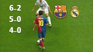 Video 3 مرات برشلونة يدمر ريال مدريد في وجود وفي غياب ميسي MP3, 3GP, MP4, WEBM, AVI, FLV Oktober 2018