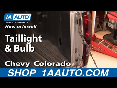 How To Install Replace Taillight and Bulb Chevy Colorado 04-12 1AAuto.com