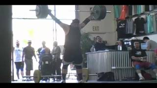 Brian Willhelm snatches 160kg at Catalyst Athletics.