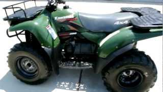 7. 2000 Kawasaki Prairie 300 4X4 Woodsman Green Overview Review Walk Around